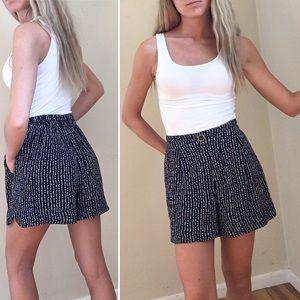 Anthropologie high waist dot line shorts